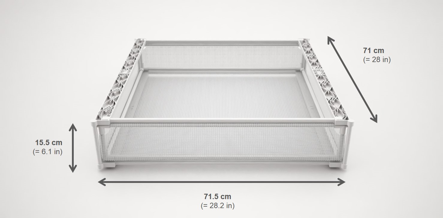 Drying Drawer Dimensions
